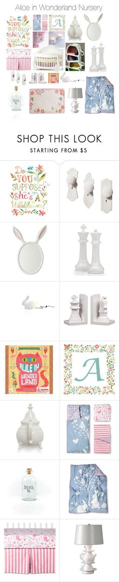 Alice in Wonderland Nursery by krisannebaker on Polyvore featuring interior, interiors, interior design, home, home decor, interior decorating and Imm Living