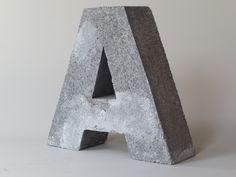 concrete letters alphabet   Concrete Letter A by cushionchicago on Etsy