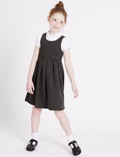 Shop All girls' school uniform at Marks and Spencer . For versatile All girls' school uniform with classic styling and contemporary elegance, visit Marks and Spencer School Uniform Store, School Uniform Outfits, School Girl Outfit, Girly Girl Outfits, Boy Outfits, Young Girl Fashion, Kids Fashion, Kids Uniforms, School Uniforms