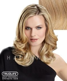 """Tru2Life Styleable Extensions - 20 Inch Wavy Clip In Extension - R25-Ginger Blonde/Medium Gold Blonde by HairDo. $49.00. Product Weight: 3.60 ounces. Approx. Length: Overall 20"""" / Nape 10"""". Heat-Friendly Synthetic Hair Extensions. Seven Pressure Sensitive Clips - Secures firmly in place without damaging your own hair. Style with heat tools up to 350 degrees. The 20"""" Styleable Soft Waves by hairdo is a one piece clip in hair extensions system made with styleable heat-..."""