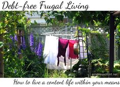 Debt-free Frugal Living: How To Live A Content Life Within Your Means