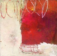 Ines Hildur | Rouge III 30 x 30 Paper on wood 2014