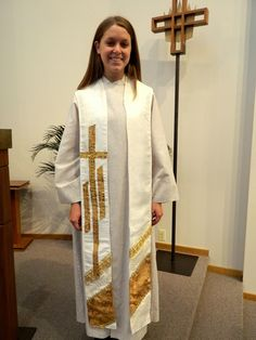 The Resurrection Clergy Stole  White and Gold for Easter, Weddings, Holy Days, Baptism