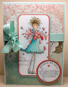 Sending my love. by KatarinaM - Cards and Paper Crafts at Splitcoaststampers Scrapbooking, Scrapbook Cards, Handmade Card Making, Handmade Cards, Handmade Greetings, Mo Manning, Paper Artist, Cute Cards, Diy Cards