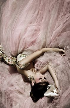 pink tulle...