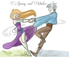 jack frost, mericcup, and rapunzel image