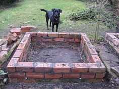 Build a raised garden bed out of reclaimed pavers.
