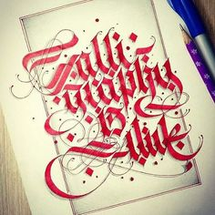 """My favorite post """"Calligraphy is Alive"""" #calligraphymasters #calligraphy #calligraffiti #calligraphyisalive #goodtype #thedailytype #typegang #typographyinspired #handmadefont #handtype #loveletters #calligrafia #gothic #gothiccalligraphy #pillotparallelpen #parallelpen #customtype #customfonts #customfont #customlettering #customtypography #creativeminds #creativefonts #creativefont #creativelettering #3dlettering #3dfonts #3dtypography #3dtype"""