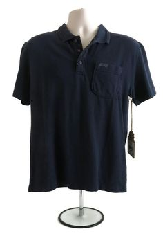 Mens Reef Golf Polo Shirt Casual Short Sleeve Size XL X-Large Birdie Navy Blue  #Reef #PoloRugby