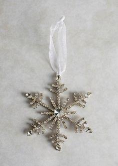 Diamante Snowflake Christmas Tree Decoration