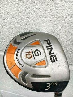 Ping G10 Fairway 3 Wood 15.5° ProLaunch Red Graphite Stiff~RH~GOOD COND~PGA~CLUB #PING Golf Clubs For Sale, Graphite, Steel, Wood, Ebay, Graffiti, Woodwind Instrument, Timber Wood, Trees