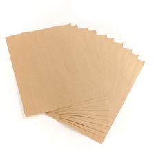 Pas cher 10 pcs Kraft papier autocollant de transfert de chaleur de Toner A4 auto   adhésif Kraft brun impression copie etiquetette 2,29 € 10 feuilles