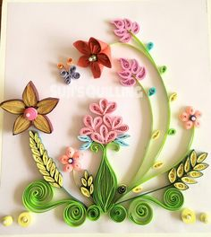 Quilled greeting