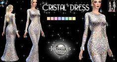 Jom Sims Creations: Cristal dress • Sims 4 Downloads