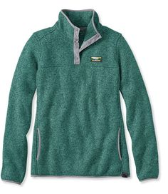 LLBean: Bean's Sweater Fleece Pullover- medium blue green | All I ...