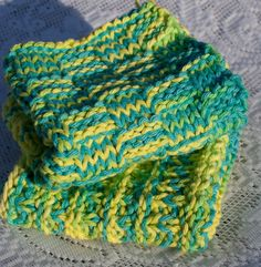 Hand Knit Washcloth Set by StaceyLeighDesigns on Etsy, $8.00