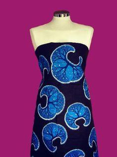 African Wax Print  Fabric brown turquoise and blu by SuomiiFabrics, €8.40