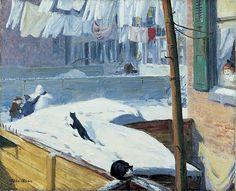 """Backyards, Greenwich Village,"" 1914, John French Sloan (1871 - 1951)"