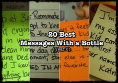 Funny Blog: Message With A Bottle (stay at home dad writes post-its relating to his fatherhood experiences)