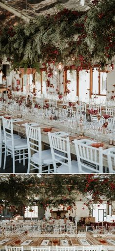 Spice up your upcoming celebration with one (or more!) of these 2018 wedding trends! From celestial themes to neon signs, there's something for everyone! Red Bouquet Wedding, Red Wedding Flowers, Wedding Reception Seating, Wedding Table, Wedding Reception Decorations, Table Decorations, Hanging Decorations, Wedding Ideas, Wedding Centerpieces