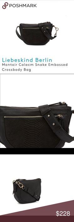e21a3e831 Liebeskind Berlin Montoir Calacm Snake Cross Body Brand new leather  crossbody bag Detachable shoulder strap has