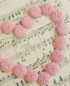 VIntage pink glass buttons