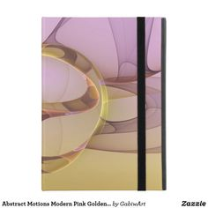 Abstract Motions Modern Pink Golden Fractal Art