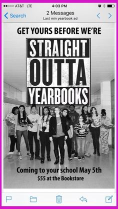 This would be a cute idea to get people to buy yearbooks. – I really like this marketing tact… This would be a cute idea to get people to buy yearbooks. – I really like this marketing tactic! Yearbook Memes, Yearbook Shirts, Funny Yearbook, Yearbook Staff, Yearbook Spreads, Yearbook Covers, Yearbook Layouts, Yearbook Design, Yearbook Ideas