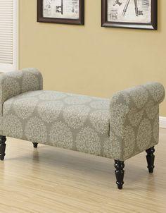Monarch Specialties Amery Fabric Indoor Bench   I 8916