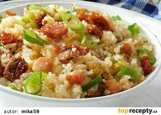 Rychlý oběd nebo večeře (aneb co se zbylou rýží) recept - TopRecepty.cz Bon Appetit, Potato Salad, Grains, Potatoes, Ethnic Recipes, Food, Eten, Potato, Seeds