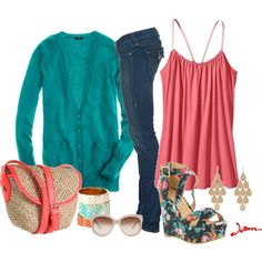 More Coral, created by jayneann1809 on Polyvore style-and-things