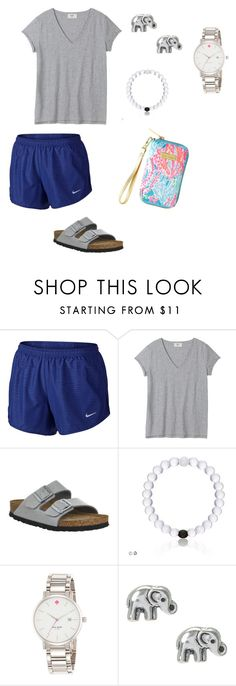 """Untitled #27"" by afdunn18 on Polyvore featuring NIKE, Birkenstock, Kate Spade and Lilly Pulitzer"