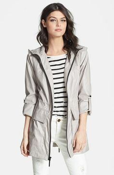 BCBGeneration Roll Sleeve Slouchy Anorak available at #Nordstrom