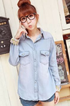 JEANS WEAR Outfits 2016, Fashion Outfits, Ulzzang, Korean Fashion, Indigo, Glamour, Chic, Jeans, How To Wear