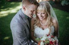 happy bride and groom just married after outdoor wedding ceremony portrait by Matt Shumate Photography at the Evergreen Gardens in Ferndale WA Wedding Shoot, Wedding Ceremony, Wedding Dresses, Evergreen Garden, Garden Weddings, Just Married, Wedding Portraits, Groom, Gardens