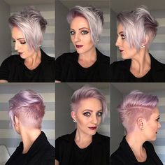 shaved undercut hairstyles for women Long Pixie Hairstyles, Girls Short Haircuts, Undercut Hairstyles, Funky Hairstyles, Short Fade Haircut, Short Hair Cuts, Short Hair Styles, Pixie Styles, Badass Haircut