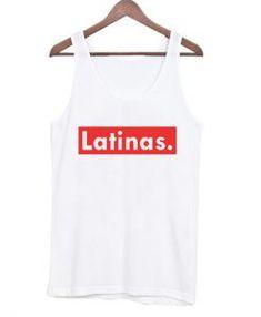 Latinas Red Stripes Tank Top