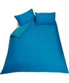 ColourMatch Fiesta Blue Duvet Cover Set - Kingsize.