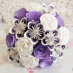 Hey, I found this really awesome Etsy listing at https://www.etsy.com/uk/listing/230282904/purple-paper-wedding-bouquet-flowers