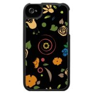 Folk Art Vortex - Customize Template iPhone 4 Covers