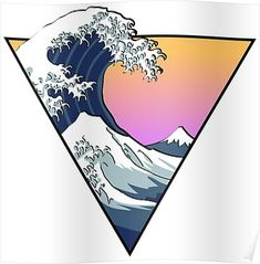 """""""Great Wave Aesthetic"""" Stickers by Zayter Aesthetic T Shirts, Aesthetic Stickers, Aesthetic Drawing, Aesthetic Art, Aesthetic Grunge, Aesthetic Vintage, Aesthetic Anime, Aesthetic Iphone Wallpaper, Aesthetic Wallpapers"""