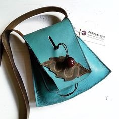 YSABEL in soft jade 2501 Leather small messenger Bag by Fairysteps, £48.00
