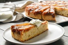 When the occasion calls for a sophisticated recipe, our delicious Caramelized upside down pear cake with Cognac whipped cream is sure to impress. It's the perfect pear cake for a special morning or afternoon tea – try it today!