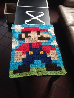 Mario granny crochet blanket by Dorien Duijsters