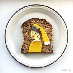 The Art Toast Project Presents: Vermeer #cheddar #cheese #yogurt #goji…