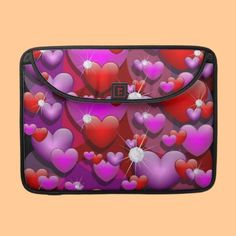 Hearts Love and Diamonds Sleeves For Macbook Pro