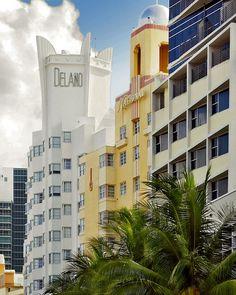 Delano (1947) and National (1939) Hotels, Miami Beach, Florida