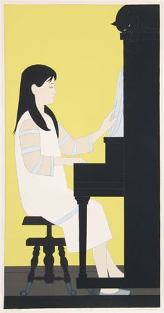 Artist: Will Barnet, American - Title: Girl at Piano Year: 1973 Medium: Serigraph on Arches, Signed in Pencil Edition: Artists Proof Paper Size: 41 x inches Printer: Fine Creations, Inc Publisher: Circle Fine Art, NY Figurative Prints, Art Blog, Fine Art, Barnet, Contemporary Modern Art, Serigraph, Art Girl, Contemporary Art, Original Art