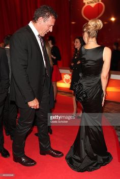 Ralf Moeller and Ruth Moschner attend the Ein Herz fuer Kinder Gala 2014 at Tempelhof Airport on December 6, 2014 in Berlin, Germany.  (Photo by Gisela Schober/Getty Images)