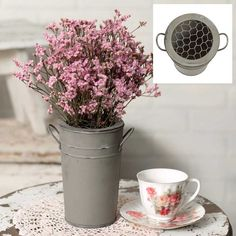 Flower Frog Bucket with Lid
